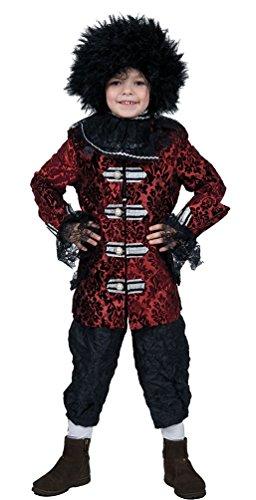 arock Kostüm Kinder Renaissance Kostüm Junge Rokoko Kinder-Kostüm bordeaux schwarz Größe 164 (Renaissance-kostüm-muster)