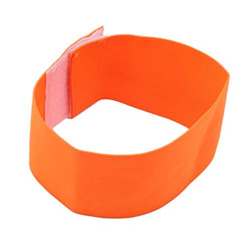 LnLyin Fußball-Fußballarmband Sport-Fußballarmbänder Elastische Armbinden, Orange