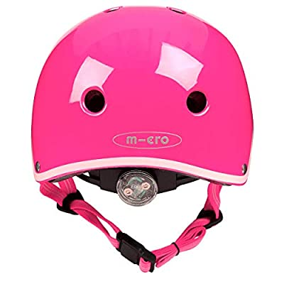 Micro Children's Deluxe Helmet For Girls Neon Pink Medium 53-57Cm Scootng Cycling Skating from Micro