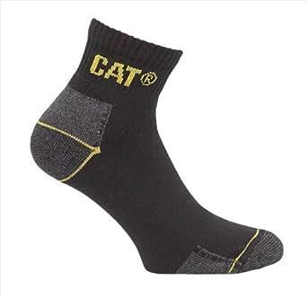 CAT Quarter Crew Socks - 3 Pair Pack- Fits Sizes 6-11