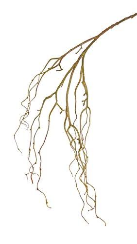 artplants Künstlicher Trauerweidenzweig Tally, grün-braun, 105 cm – Künstlicher Zweig/Deko AST