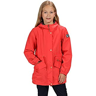 Regatta Kid's Tamora Waterproof and Breathable Fishtail Hem Hooded Outdoor Jacket 9