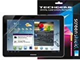 TECHGEAR Samsung Galaxy Tab 2 10.1 Pouces / P5100 / P5110 Film de Protection Ultra Clair pour Écran LCD avec Chiffon de Nettoyage & Carte d'Application