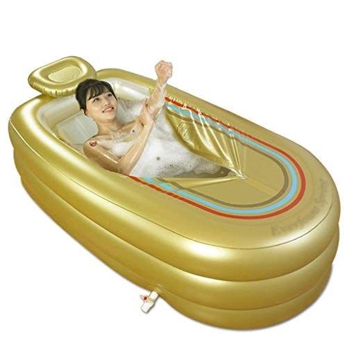Badewanne, Pools Tauchbäder Gold-Schlauchboot Erwachsene Bade Faltbare Wanne 168 * 78 * 48 cm Badewannen -,