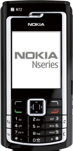Nokia N72 Handy (GSM, TriBand 900, 1800, 1900 MHz, 2 MP Kamera) Gloss Black - E72 Nokia