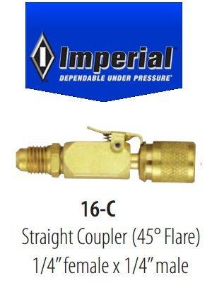 Coupleur rapide droit Imperial 16-C pour 1/4 SAE