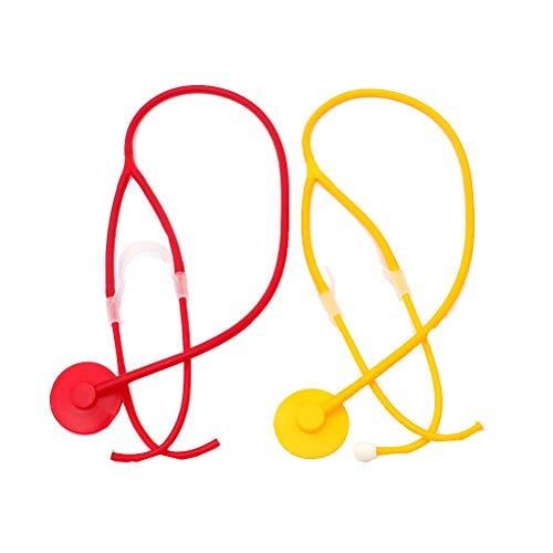 Kit Kind Arzt Kostüm - Amosfun Halloween Stethoskop Kinder Spielzeug Arzt Krankenschwester Kostüm Zubehör Maskerade Cosplay Leistung Requisiten Echometer Arzt medizinische Ausbildung Kit 1 Satz