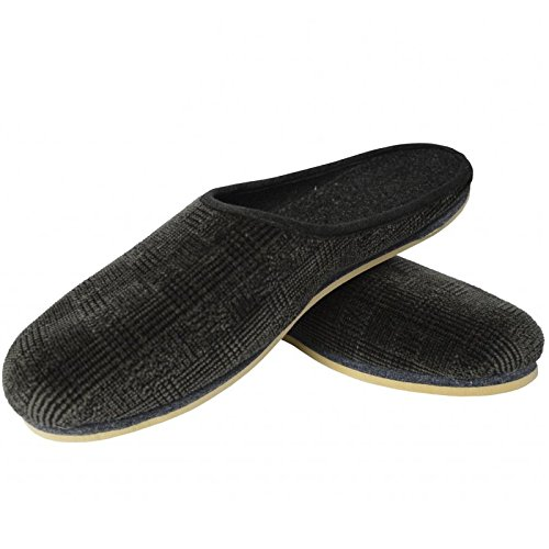 chaussons-homme-femme-unisexe-adulte-taille-38-51-noir-anthrazit-karo-51-eu