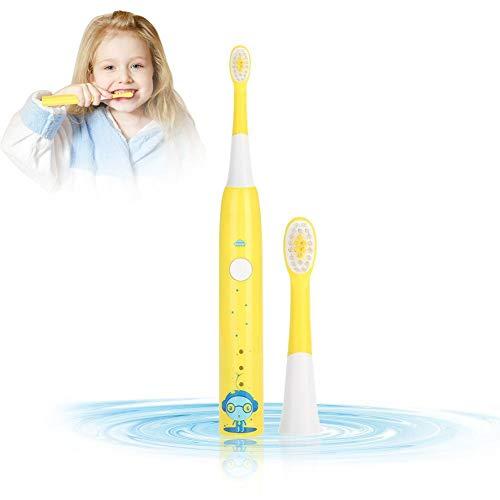 Spazzolino da denti elettrico, spazzolino elettrico per bambini ricaricabile usb di ricarica spazzolino per denti con testine sostituibili, certificazione fda (gelb)
