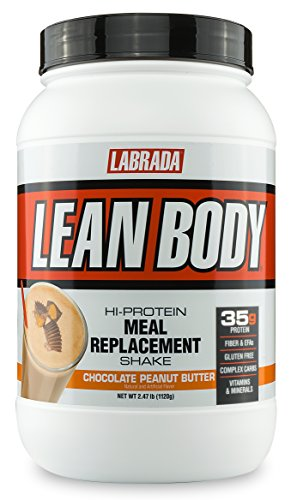 Lean Shake (LABRADA NUTRITION - Lean Body High Protein Meal Replacement Shake, Whey Protein Powder for Weight Loss and Muscle Growth, Chocolate Peanut Butter, 2.47LB Tub by Labrada)