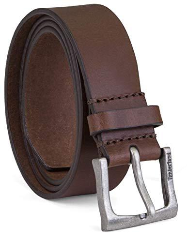 Timberland Herren Ledergürtel, klassisch, 3,6 cm breit, groß und hoch - Braun - 38 (Timberland Gürtel Aus Leder Für Männer)