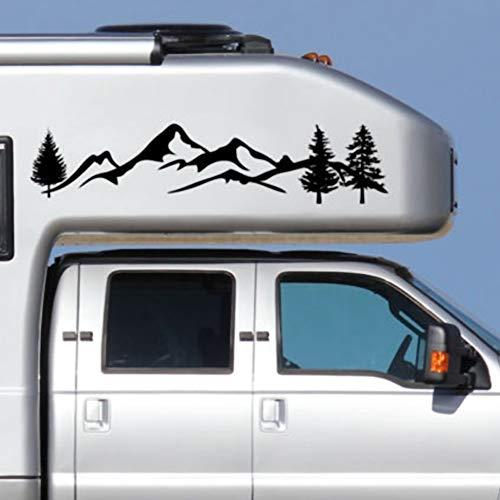 gfyee Auto Aufkleber Berge Mountain Tree Car-Styling Fahrzeugaufbau Seitenschweller Camping Wohnmobil Anhänger Aufkleber Aufkleber Dekoration - 2 * Car für Tattoos Auto-Styling LKW Fahrzeug Tür