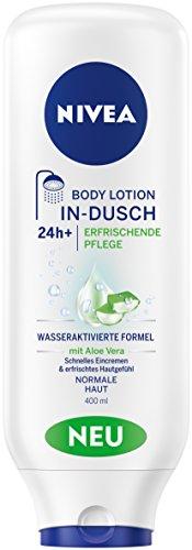 NIVEA Körper Lotion zur Anwendung in der Dusche, 400 ml Tube, In-Dusch Body Lotion Erfrischende Pflege - Q10 Straffende Creme