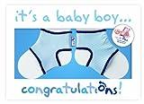 Sock Ons 140511 - Glückwunschkarte blau