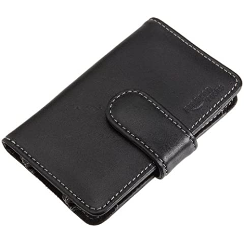 AmazonBasics - Funda de cuero con pinza para cinturón para iPod touch 3G, color negro