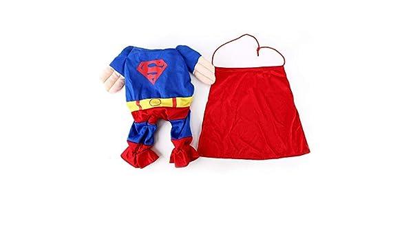 EQLEF Superman pour Chien Chat Chiot Halloween Costume V/êtements pour Animaux Apparel Superchien Dress Up