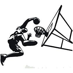 Winhappyhome Antecedentes Dunk baloncesto de los deportes pegatinas de pared para niños sala de estar de la decoración del Adhesivos