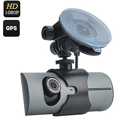 Doppia fotocamera DVR per auto, display da
