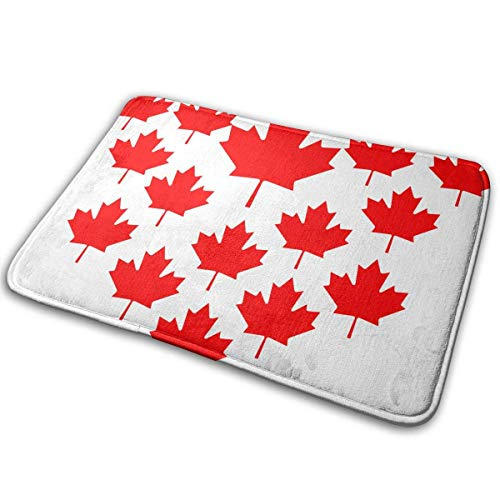 Uosliks Maple Leaf Flagge von Kanada Anti-Slip Maschine Waschbar Fußmatte Bad Küche Teppich Bodenmatte 19,2