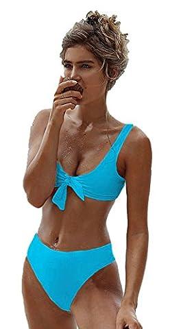 ALAIX Womens Beach Sexy Bikini Backless Bowknot Swimwear Two piece