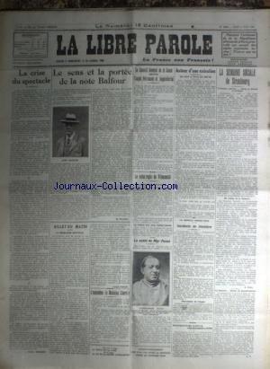 LIBRE PAROLE (LA) du 03/08/1922