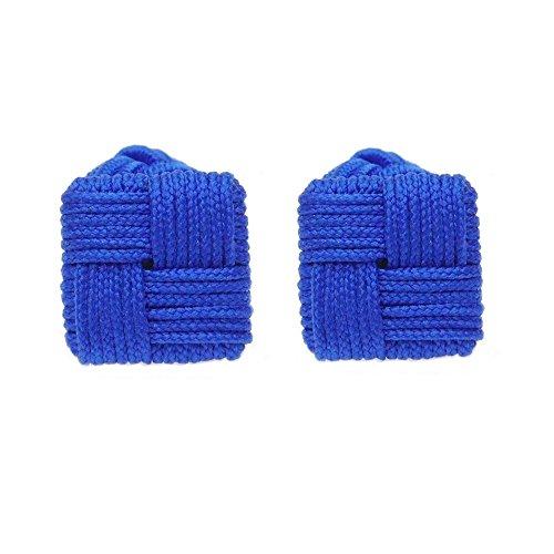 HONEY BEAR Boutons de Manchette de Noeud de Soie de Tissu des Hommes/Femme Chemise/Robe,Carré pour Le Cadeau de Mariage Affaires