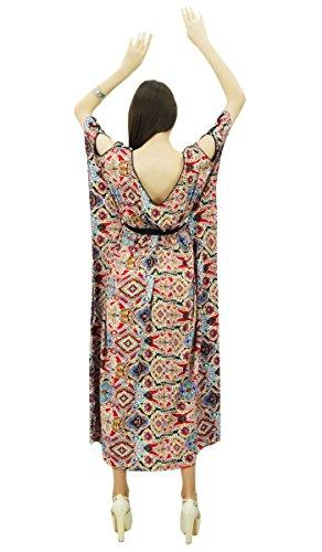 Phagun Polyester Caftan Caftan Bohème Robe De Nuit Longue Maxi Multicolore