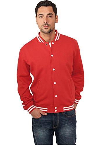 Urban Classics College Sweatjacket, Felpa Uomo rosso-rosso