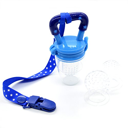 Kinder Nippel Schnuller Frische Lebensmittel Nibbler Feeder Fütterung Schnullerband Safe Baby Schnullerketten Supplies Nippel Teat Schnuller Flaschen (Blue)