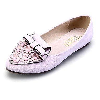 Confortevole ed elegante delle scarpe comode scarpe da donna in pelle scamosciata tacco piatto Comfort / Punta / Punta Chiusa Appartamenti / Abbigliamento Casual più colori disponibili Pink