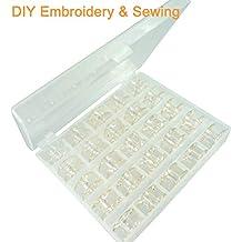 New brothread Plástico Caja de Almacenamiento con 25 canillas vacías Bobinas de Hilo Size A (