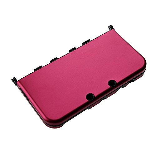 Ostent custodia rigida in alluminio cover custodia protettiva compatibile per nintendo nuova console 3ds ll / xl - colore rosso