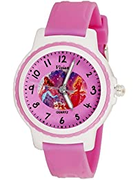Vizion Analog Pink Dial (Barbie-Princess in Castle) Cartoon Character Watch for Kids-V-8829-4-2