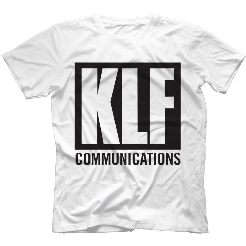 KLF Communications 90s T-Shirt 100% Cotton, White, Medium