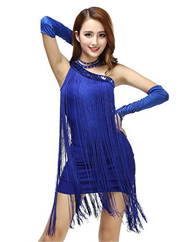 77c00ad73a50 Grouptap La Spalla Latino Nappa Nero Swing Danza Gonna da Competizione  delle Donne Vestito per Sala