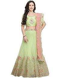 cebf4e5855 Amazon.in: Greens - Lehenga Cholis / Ethnic Wear: Clothing & Accessories