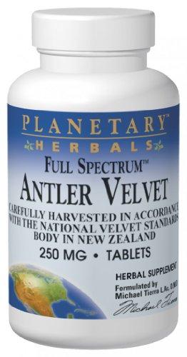 Planetary Herbals Full Spectrum Antler Velvet (250mg, 60 Tablets)