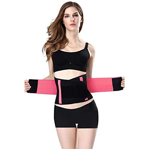 Jueachy Taille Trainer Gürtel für Frauen, atmungsaktiver Schweißgürtel Taille Cincher Trimmer Body Shaper Gürtel Fettverbrennung Bauch Abnehmen Band für Gewichtsverlust Fitness Workout (S, rosa)