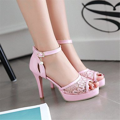 LvYuan Sandali-Matrimonio Tempo libero Formale Casual-Comoda Innovativo Club Shoes-A stiletto-Materiali personalizzati Finta pelle-Nero Rosa Black
