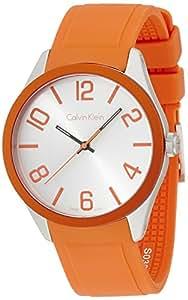 Calvin Klein Montre bracelet Mixte à Quartz Analogique Caoutchouc K5E51YY6