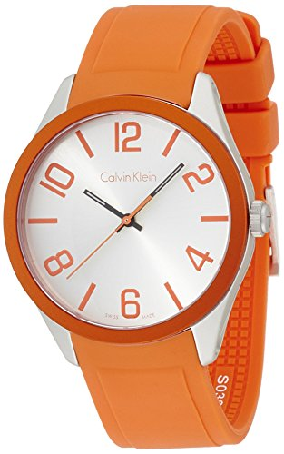 Calvin Klein Unisex Quartz Watch K5E51YY6 with Rubber Strap