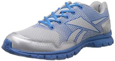 Reebok Men's Rhythm Run Lp Silver and Blue Mesh Running Shoes - 10 UK