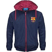 FC Barcelona - Chaqueta cortavientos oficial - Para niño - Impermeable -  Estilo retro 75a1ce831a873
