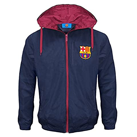 FC Barcelona Official Football Gift Boys Shower Jacket Windbreaker 8-9 Years MB