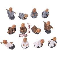 LANDUM Moine Figure Ornements Kung Fu Poupée Jouet Miniature Dollhouse Bonsai Décor de Jardin Aléatoire