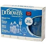 Dr Browns botellas flujo natural anticólicos edición especial Set de regalo (azul)