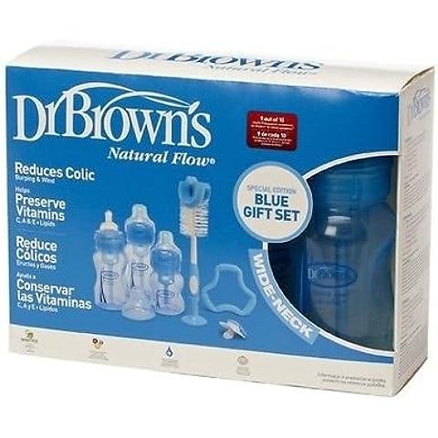Dr Browns bottiglie flusso naturale anti coliche Edizione Speciale regalo set (Blu) - Bottiglia Dummy