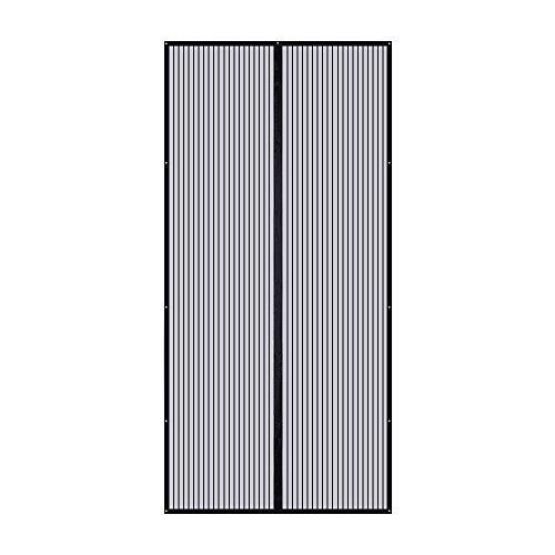 Magnet Fliegenvorhang,TOPELEK Magnet Fliegengitter Balkontür Fliegenvorhang Magnetvorhang Tür Insektenschutz Türvorhang Max 110×220cm, Klebmontage ohne Bohren - Doppelte Tür-gelee