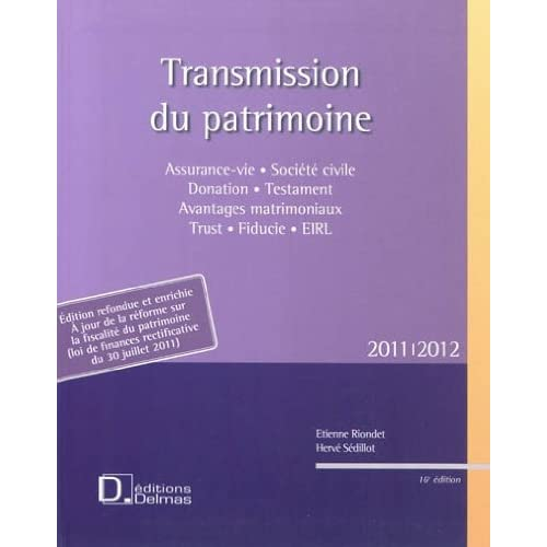 Transmission du patrimoine 2011-2012