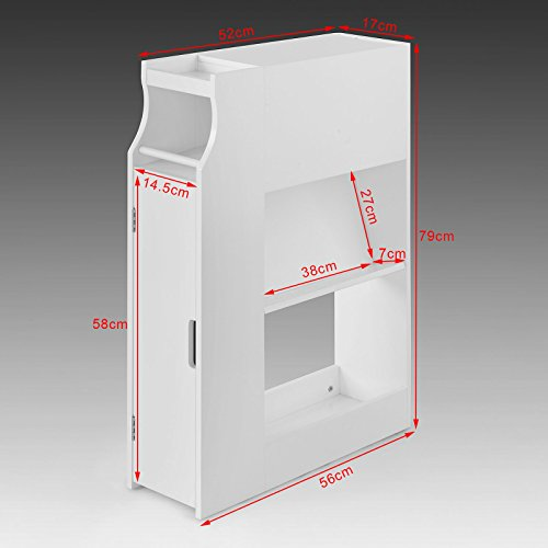 sobuy frg52 w meuble de rangement armoire wc pour papier. Black Bedroom Furniture Sets. Home Design Ideas